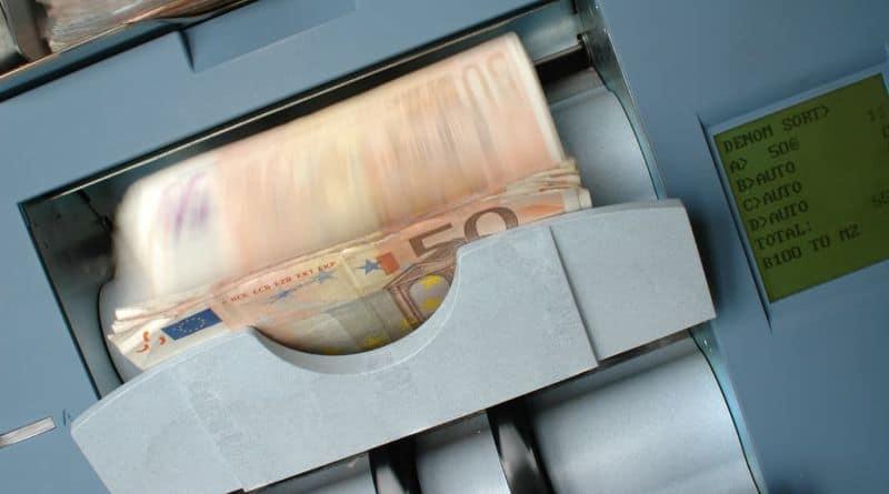 billet euro distributeur