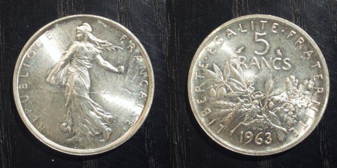 5 francs 1960 prix