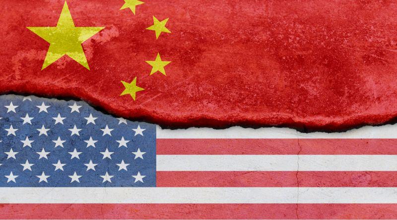 chine usa drapeau