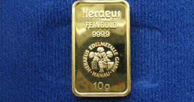 Augmentation du cours de l'or jusqu'à l'effondrement du Système