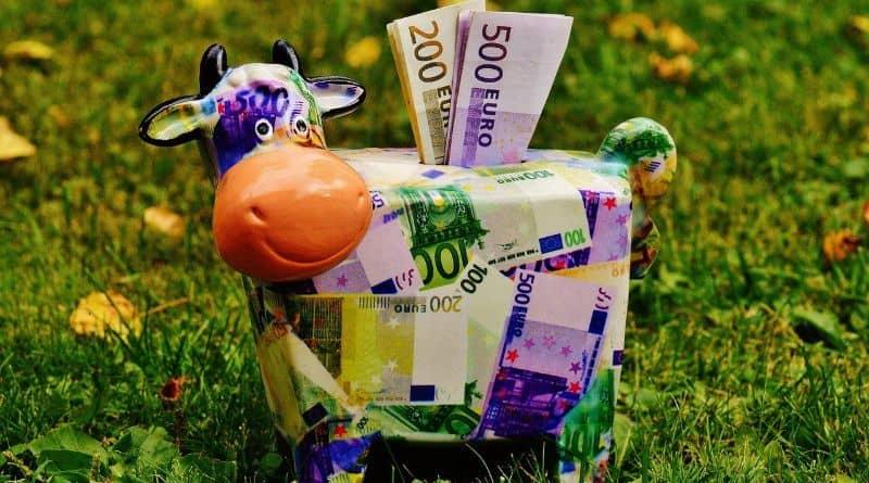 billet euro tirelire
