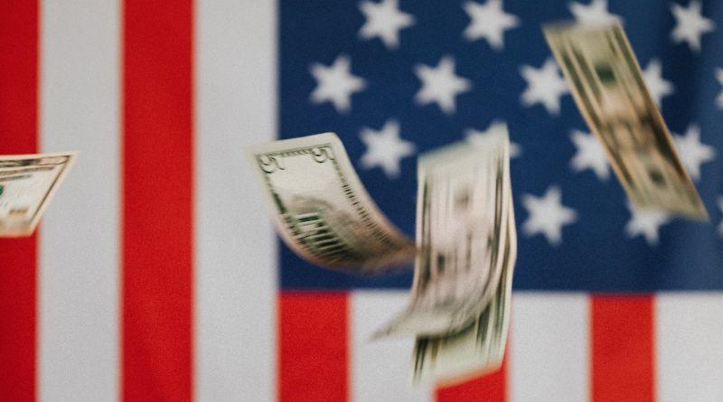 billet dollar usa drapeau